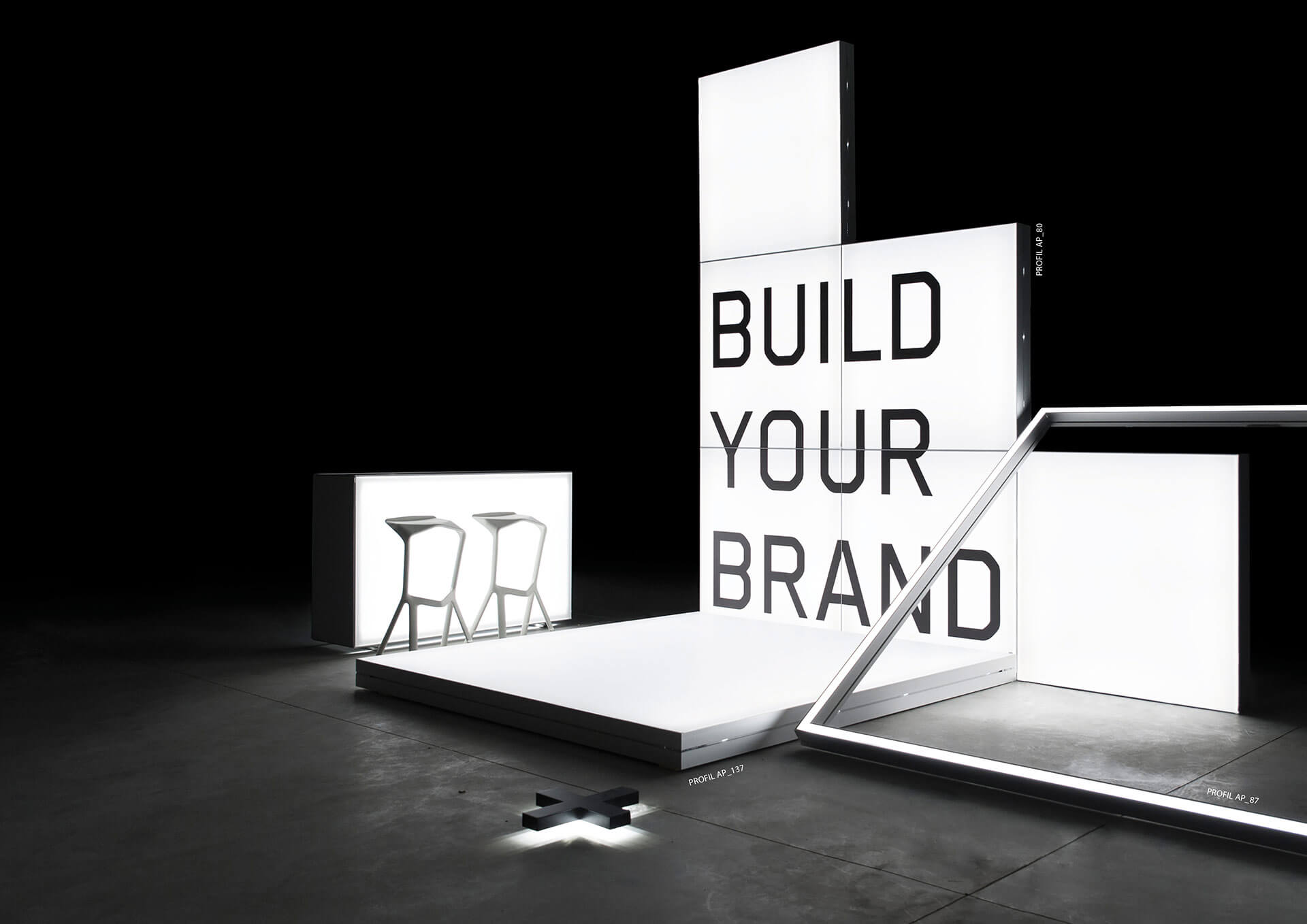 Mobiler Messestand - Messewand - Promotionstand - Lightboxes - von Modulap