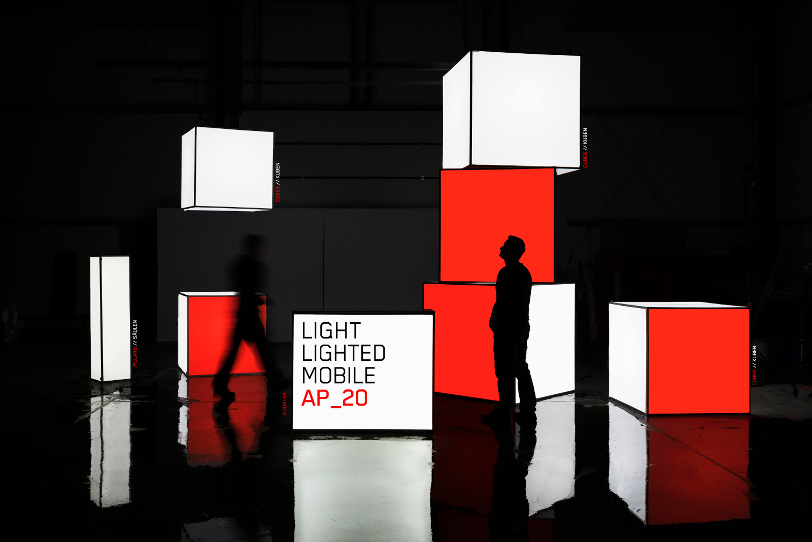 Lighted Counter - Fair Stand - Promotion Stand - Exhibition Stand - Modulap